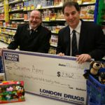 London Drugs wireless pin pads raise over $2000 for the Salvation Army