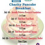 London Drugs in Red Deer Hosts Five Charity Pancake Breakfasts for Westerner Days