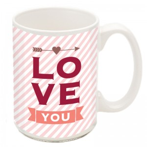 Personalized cards and mugs mean Love.