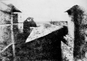 World's earliest surviving camera photograph, 1826 or 1827. Still, it's clearer than many of my photos. Credit: Wikimedia Commons