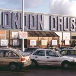 Vintage photos of London Drugs stores