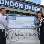 London Drugs gives charitable donation to Meals on Wheels program in Richmond
