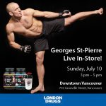 Meet Georges St-Pierre in Vancouver on July 10