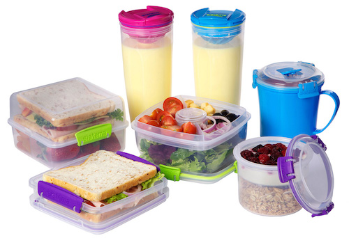 it's easy to pack lunches in these sistema containers