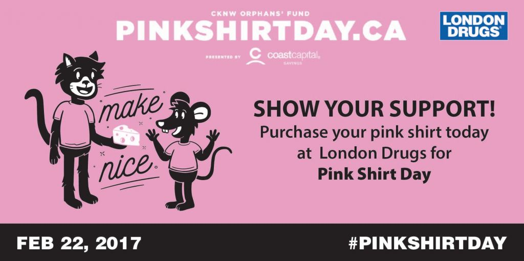 Help End Bullying With Pink Shirt Day 2017 - London Drugs Blog