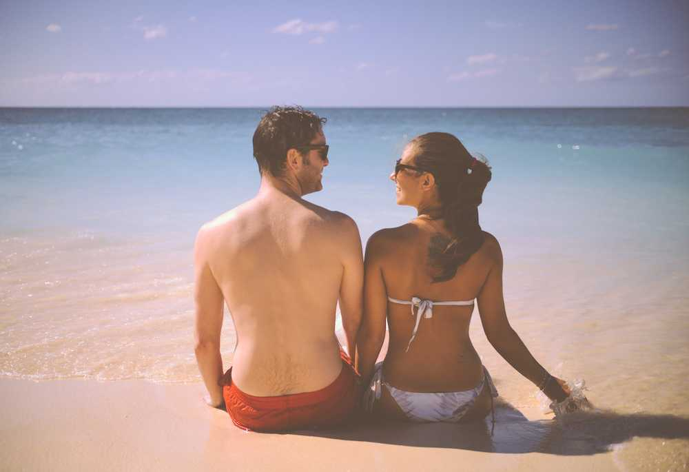 Newlywed couple on honeymoon with travel insurance from London Drugs