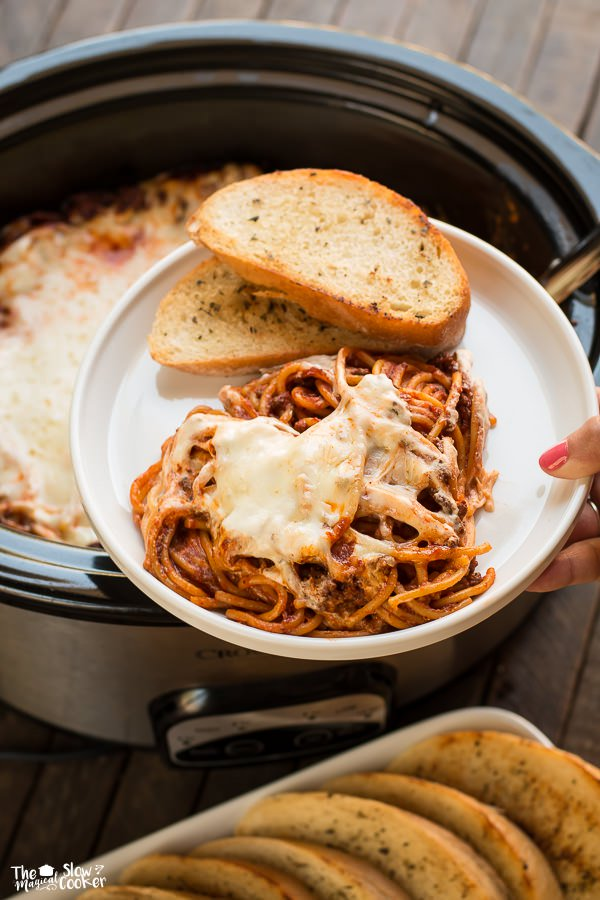 Slow Cooker Crock Pot Baked Spaghetti - London Drugs Blog