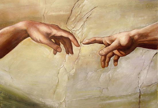 Detail from Michelangelo's famous painting