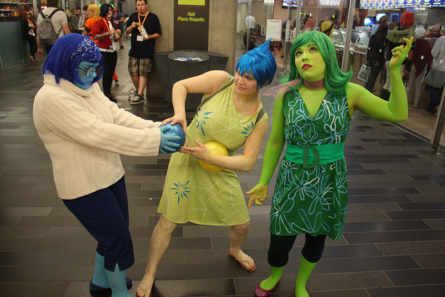 Anger, Sadness, and Disgust from Pixars Inside Out