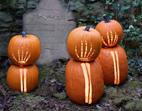Skeleton Pumpkins