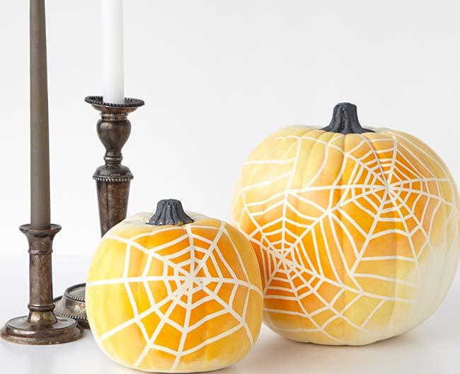 Ombre Spiderweb Pumpkin