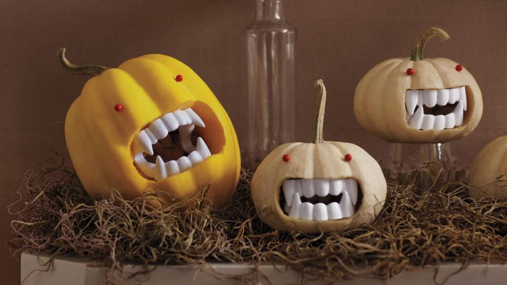 Toothy Mini Pumpkins