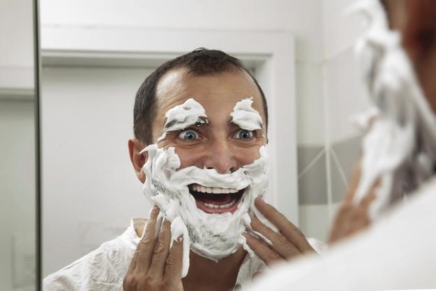 let shaving cream soak in