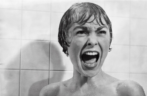 Janet Leigh, in Alfred Hitchcock's Psycho (1960).