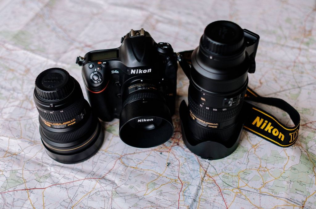Nikon camera and Nikon lenses