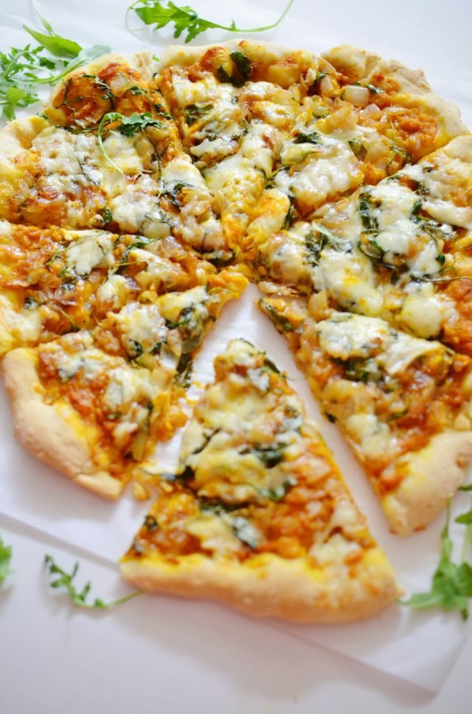 pumpkin recipes - savoury pumpkin pizza