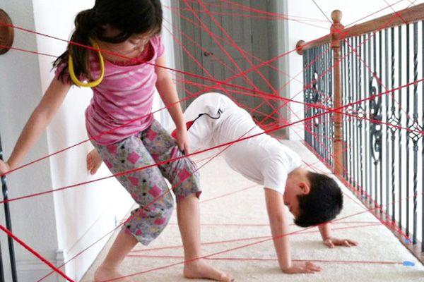indoor activities - spy laser obstacle course