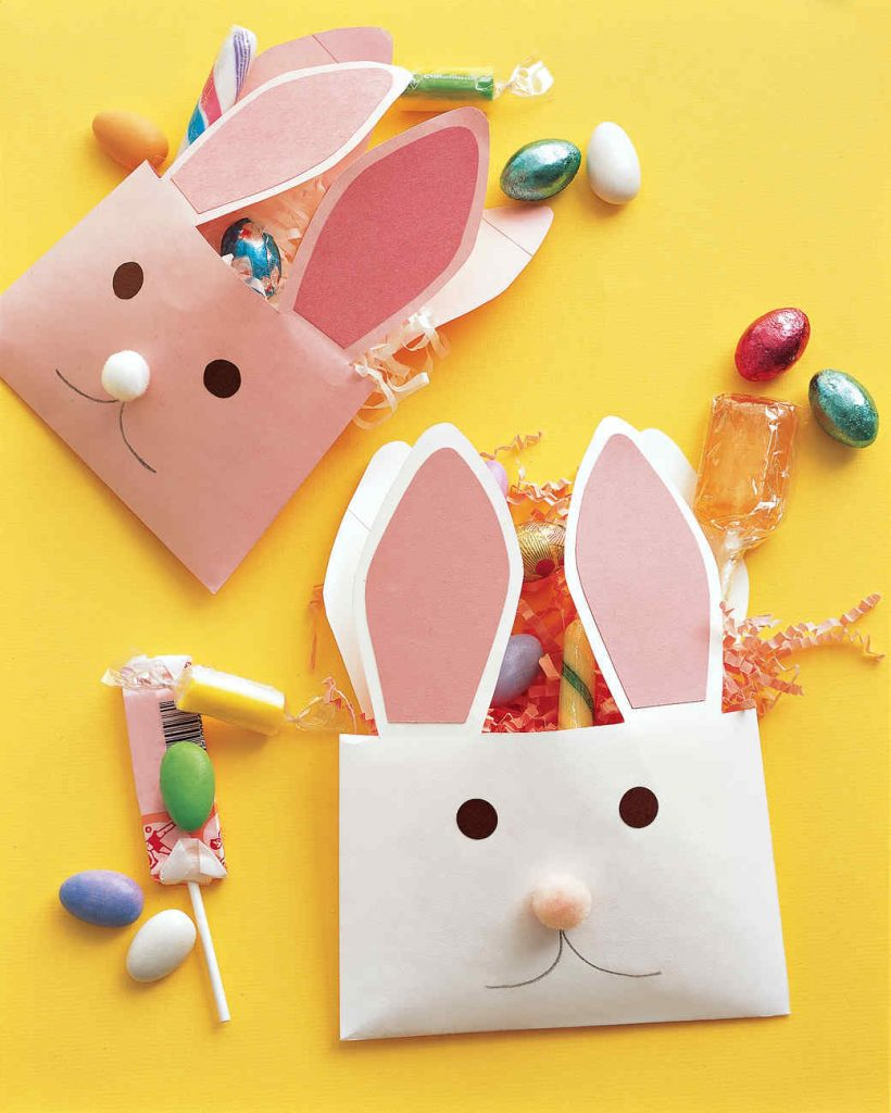 DIY Easter - envelope bunnies