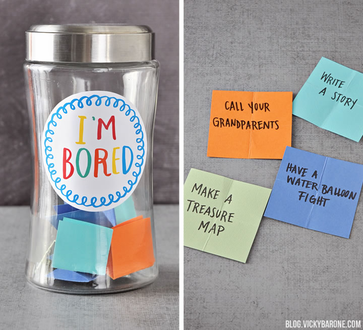 indoor activities - i'm bored jar