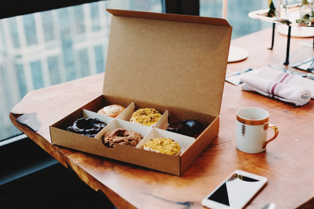 fika - donuts and coffee on a desk