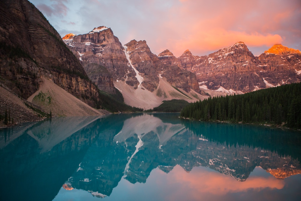 Lake Moraine Canada Sunrise Sunset London Drugs