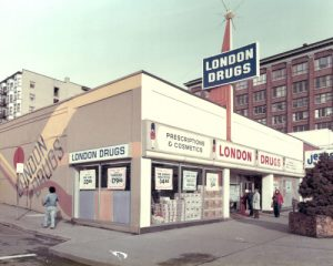 London Drugs store 3 in New Westminster circa 1975