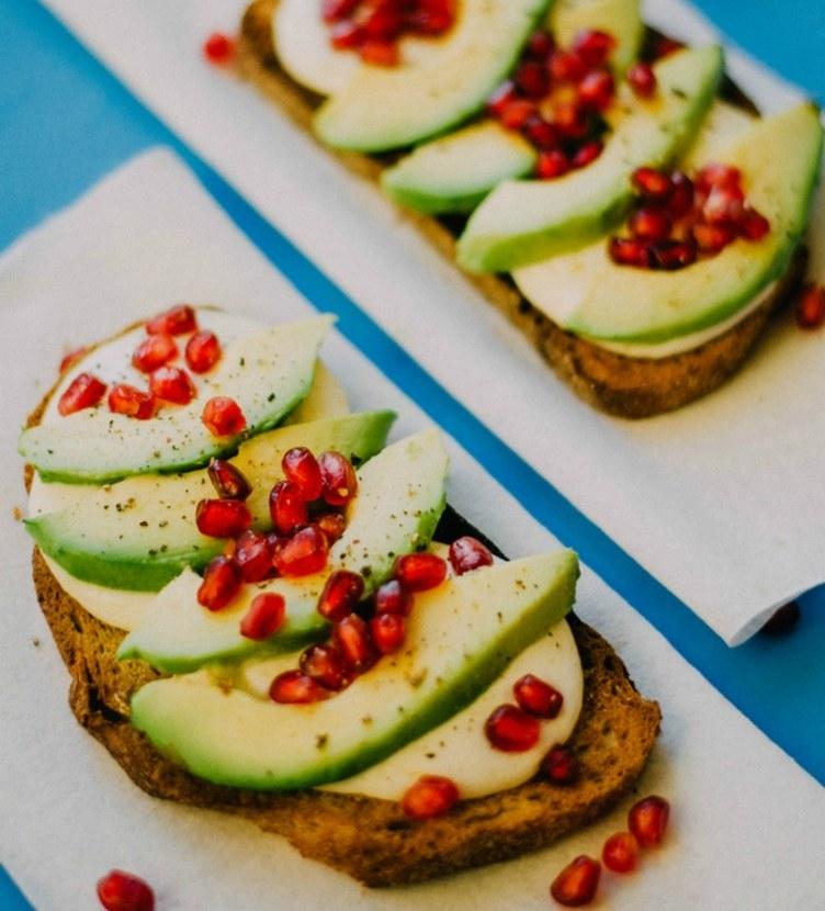 Beyond avocado toast: Avocado and pomegranate