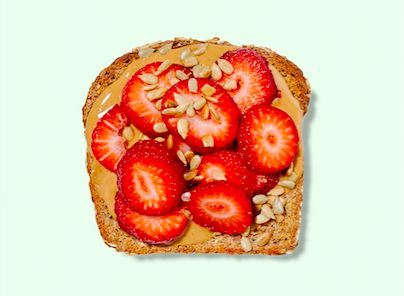 Beyond avocado toast: strawberries and sunbutter