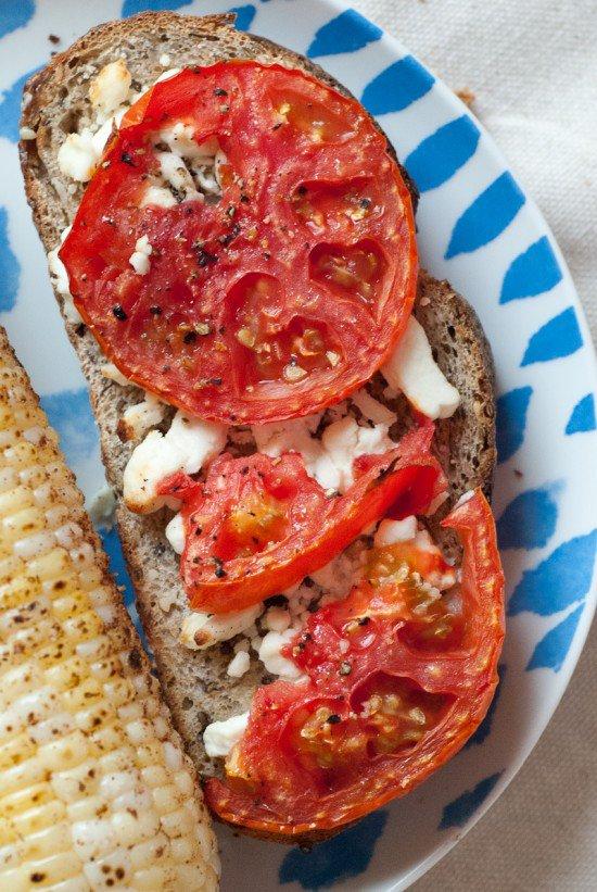 Beyond avocado toast: Tomato and goat cheese toast