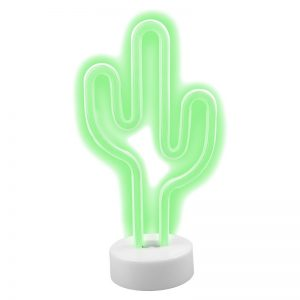 2018 Holiday Gift Guide: Furo Neon USB Light Cactus