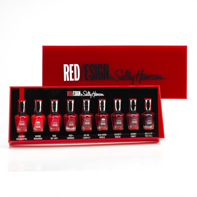 Sally Hansen Red/esign Nail Gift Set Nine Shades Red Polish
