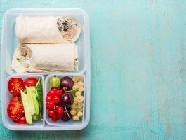 Bento box healthy lunch